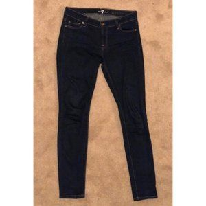 7 for All Mankind The Skinny Dark Wash Blue Jeans